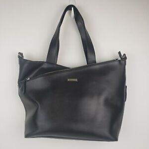 Storksak London Black Leather Diaper Bag