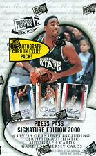 2000 Press Pass Signature Edition Basketball Box w/12 Autograph Cards!!!