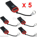5PCS/Lot High Speed USB 2.0 Mini SDHC Micro SD T-Flash TF M2 Memory Card Reader