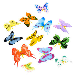 12 Realistic Insects Plastic  Butterfly Character Action Figures Model Toys