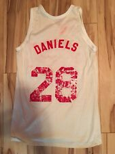 1989 KAL DANIELS WORN CINCINNATI REDS JERSEY Celebrity Game-Springboro High HS