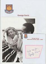 George PARRIS West Ham United 1984-1993 ORIG STAMPA FOTO & HAND SIGNED CARD