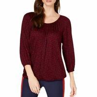 MICHAEL KORS NEW Women's Paisley Scoop-neck Blouson Blouse Shirt Top TEDO