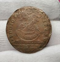 1787 Fugio Cent Colonial Copper Coin - Newman 7-T Rarity 4 - Scarce - VF/XF Det.