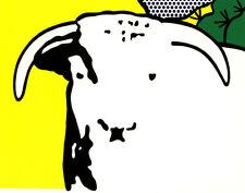 Roy Lichtenstein Bull Head l Canvas Print 16 x 20 #4168