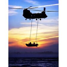 PAINTINGS SCENE SEASCAPE RESCUE HELICOPTER CHOPPER PILOT OCEAN POSTER LV3448