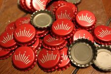 100 BUDWEISER BUD RED BEER BOTTLE CAPS UNCRIMPED CROWN C STORE 4 MORE FREE SHPG