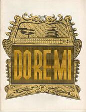 """Peggy Cass Souvenir Program  """"Do Re Mi"""" 1962  Stock  Jerry Lester"""