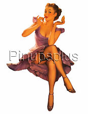 Vintage Style Rockabilly Pinup Girl Waterslide Decal for Guitars & More S120