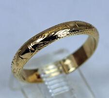 Estate 14K Gold Ring Wedding Band Etched Eternity Pattern