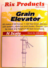 "N Scale: ""GRAIN ELEVATOR"" - Rix Products Kit #628-0707"