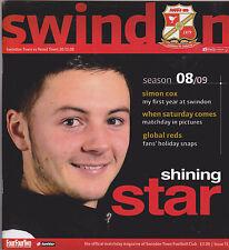 Football Programme>SWINDON TOWN v YEOVIL TOWN Dec 2008