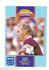 1993 BRISBANE BRONCOS  FIELDERS RUGBY LEAGUE CARD - ALLAN LANGER
