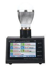 LCD power meter watt 110v 220v 10A energy meter monitor test led e14/27/T8 lamps