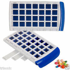 7 Day Pill Box Organizer Weekly Medicine Braille Markings Container Travel Case
