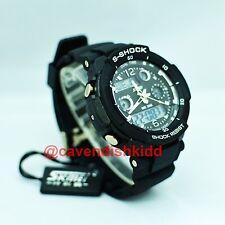 SKMEI S-SHOCK Silver DiaL Digital Analog Smart Cool AL Mens Sports Wrist Watches