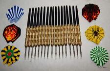New listing 17 Black Plastic Brass Steel Tip Darts