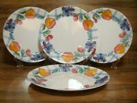 """SET OF 4  - CORNING CORELLE - FRUIT BASKET - 10 1/4"""" DINNER PLATES"""