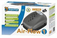 Superfish Air Flow 1 Budget Air Pump Aquarium Fish Tank Airpump 96L/H