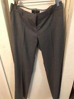 J. Crew 1035 Super 120's 100% Wool Gray Dress Pants Size 6 A937