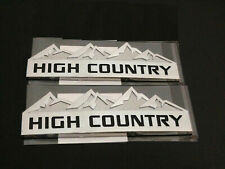 Black-white 3x High Country Emblems Rear Side Door Tailgate Replacement For Silverado 1500 2500HD 3500HD