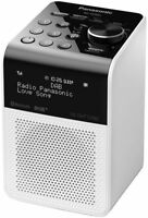 NEW Panasonic RF-D20UGN-W DAB DAB+ FM Portable Digital Radio Bluetooth USB