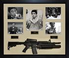 Al Pacino Autographed Scarface Photo w Gun Custom Shadowbox Display Case