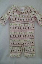 Gymboree Girl Ivory Christmas Gingerbread Romper One piece Size 0-3 Monts