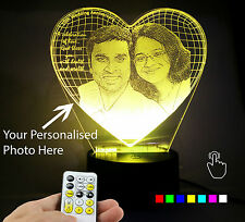 Lampees 3D Illusion Personalised LED Lamp with 7 colors change and Flashing