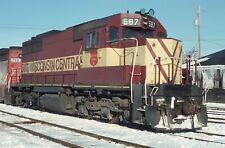 H: Original Slide Wc Wisconsin Central Sdl39 #587 - Green Bay Wi 1989 Ex-Milw