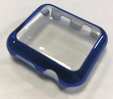 Panzerglas Display Schutz Apple Watch Series 2 / Series 3 Cover für 42 mm blau