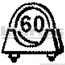 Klarius Part Number : SYA23 - 60mm Exhaust U-Clamp