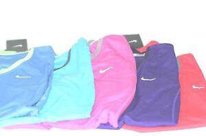 Women's NIKE Running Dri Fit Racer Mesh Jogging S/S Semi Fitted Tee Shirt