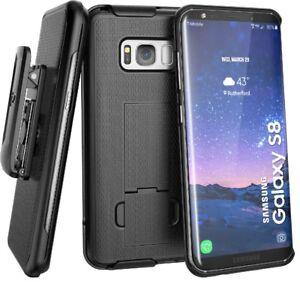 For Samsung Galaxy S8 Belt Clip Holster Case, Black DuraClip Combo - Encased