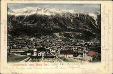 Innsbruck Austria Tirol AK 1901 Blick vom Berg Isel Alpen gelaufen nach Naunhof