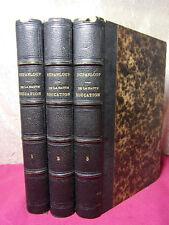 DE LA HAUTE ÉDUCATION INTELLECTUELLE  Mgr Dupanloup 1866 ( rare ) 3/3 vols