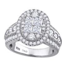 Anillos de joyería de plata de ley de diamante