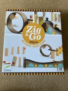 NEW DJECO Zig & Go Action -Reaction 25 Wooden Pieces - Educational