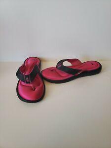Nike Black Pink Comfort Footbed Women's Black Flip Flops Sandals - Size 7