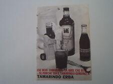 advertising Pubblicità 1960 TAMARINDO ERBA