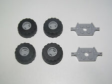 Lego ® Lot x4 Roue Voiture Jante Pneu Essieu Tire Car Wheel 6014 + 56890 + 6157