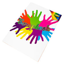 Grand A3 carnet de croquis 100gsm 30 Couleur Feuille Blank Plain Dessin Art Scrapbook