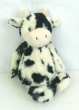 "Jellycat Bashful Calf Cow Stuffed Plush Soft Toy Black White 12"" Country Farm"