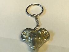 Ram's Head TG250 English Pewter on a Split Ring Keyring