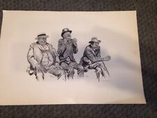 Vintage Print CHARLES DANA GIBSON - FANNED OUT Baseball/Fans