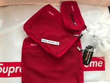 SUPREME MESH ORGANISER BAGS SET OF 3 RED FW16 POUCH GYM ORGANIZER BOX LOGO