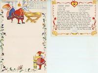 1 CHRISTMAS FOLK ART 1 VINTAGE BAKER BAKING DOUGH BUTTER CHURN COFFEE BREAD CARD