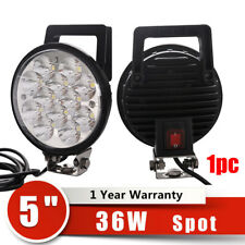 """36W 5"""" Portable Handle Led Driving Work Light Spot Heavy Duty Lamp With Switch"""