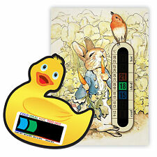 Peter Rabbit Nursery Room Thermometer & Duck Bath Thermometer pack - Easy Read