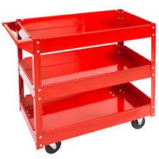 TecTake 400880 Carrello da Officina (3 Piani, 84x41x78cm) - Rosso